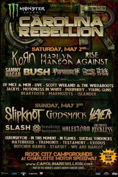 5 must-see bands at Carolina Rebellion
