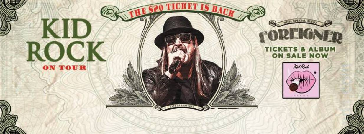 Catch Kid Rock's 'First Kiss' 2015 tour in Auburn or Ridgefield, Washington