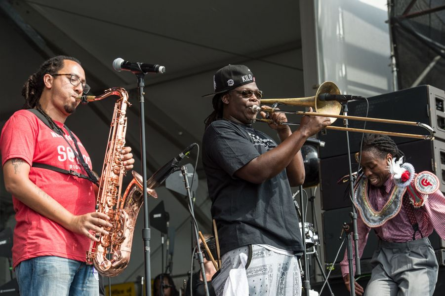 7 photos showing why Rebirth Brass Band is the New Orleans Jazz Fest