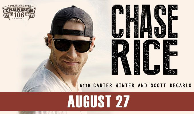 Chase Rice tickets at Starland Ballroom in Sayreville