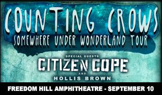 Counting Crows tickets at Freedom Hill Amphitheatre in Sterling Heights
