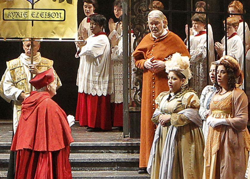 "a scene from Lyric Opera's production of ""Tosca"""