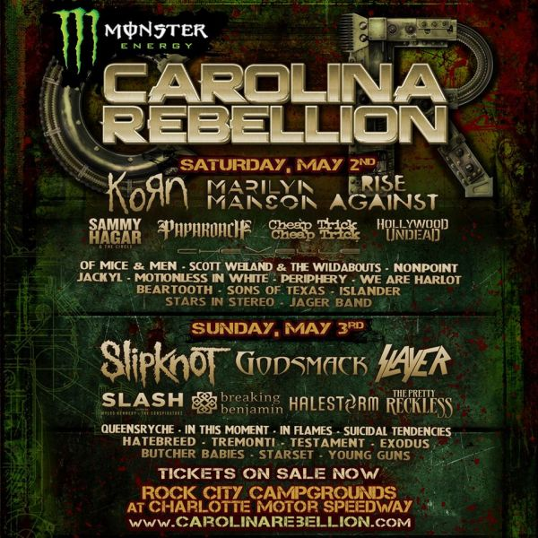 2015 Monster Engery Carolina Rebellion promotional art