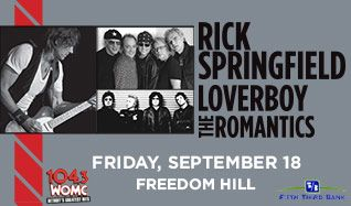 Rick Springfield tickets at Freedom Hill Amphitheatre in Sterling Heights