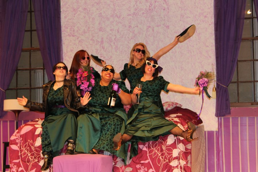 """Paradise Playhouse in Excelsior Springs, Missouri presents the dark comedy, """"Five Women Wearing the Same Dress."""