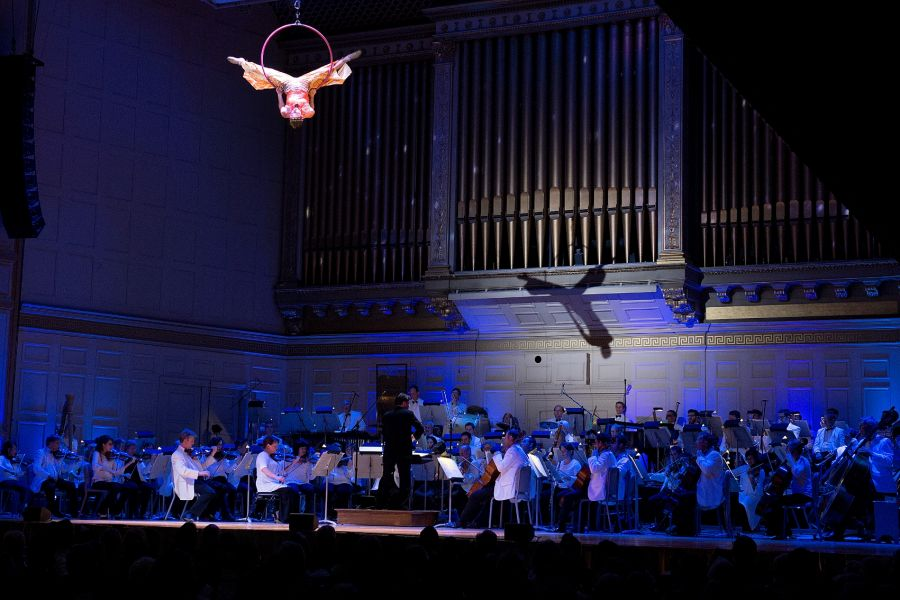 """Cirque de la Symphonie"" takes classic music to new heights with acrobats, dazzling stunts, and circus performances, accompanied by popular"
