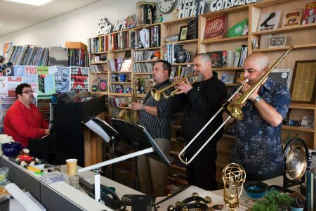Arturo O'Farrill storms JazzHawaii 2015 with his trumpeter Jim Seeley