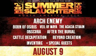 Arch Enemy, Born of Osiris, Veil of Maya, The Acacia Strain, Obscura, After The Burial, Cattle Decapitation, Beyond Creation, Inventure, HEROES, Circuit Of Suns tickets at Starland Ballroom in Sayreville