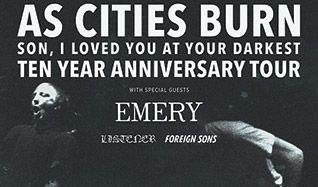 As Cities Burn tickets at The Regency Ballroom in San Francisco
