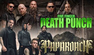 Five Finger Death Punch & Papa Roach tickets at The Joint at Hard Rock Hotel & Casino Las Vegas in Las Vegas
