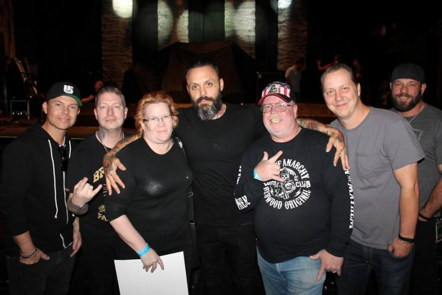 Meet and Greet antics with Blue October before the show