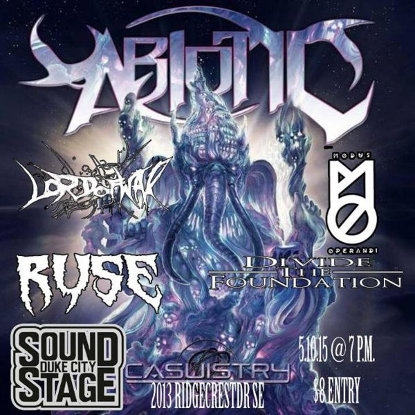 Abiotic and guests perform at Duke City Sound on May 10.