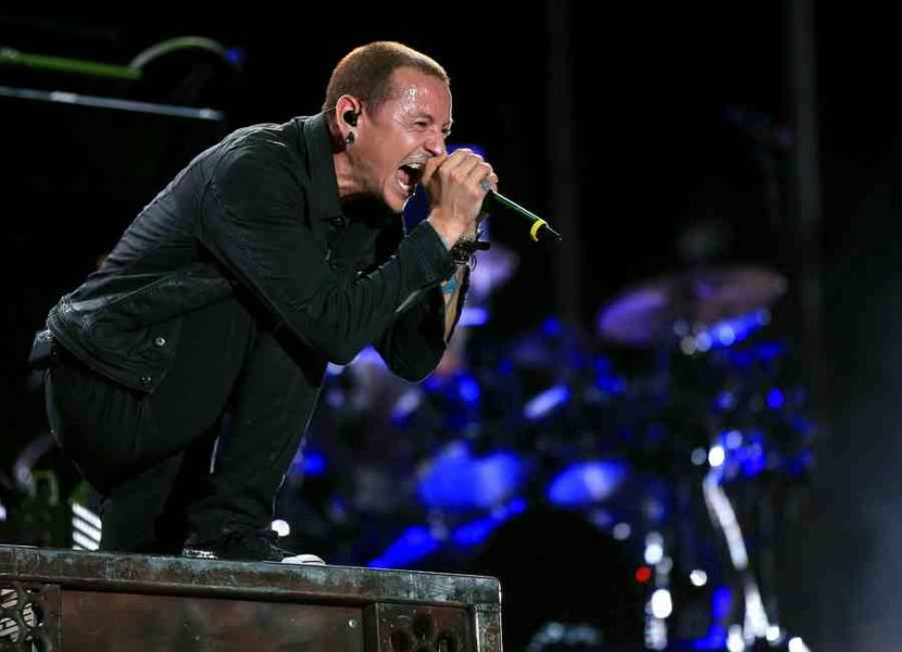 Singer Chester Bennington of Linkin Park