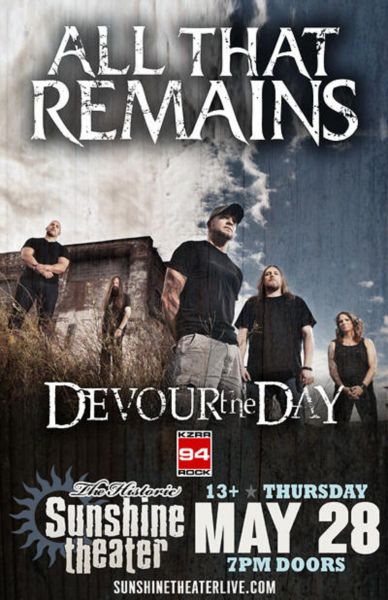 All That Remains and guests perform at Albuquerque's Sunshine Theater.