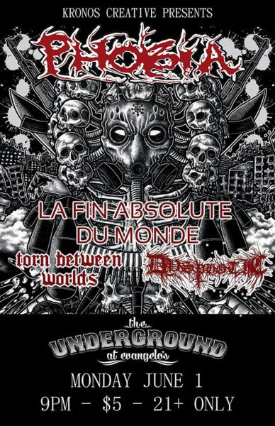 Phobia and guests perform at Santa Fe's The Underground at Evangelo's .