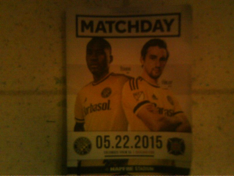 Spectators at MAPFRE Stadium on May 22 were handed free game programs for the Chicago Fire vs. Columbus Crew match.