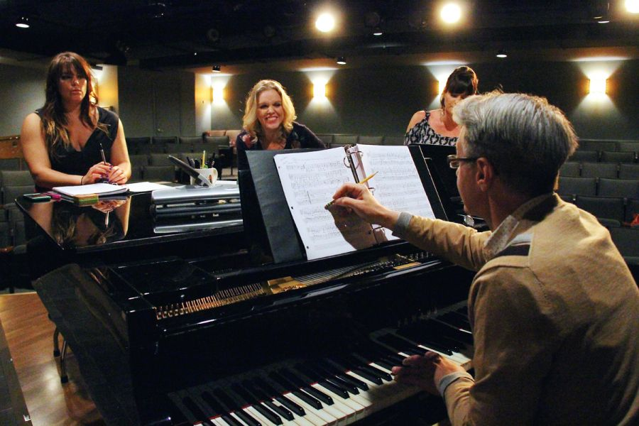 Judy Barbra Liza in Rehearsal with J Kent Barnhart at Quality Hill