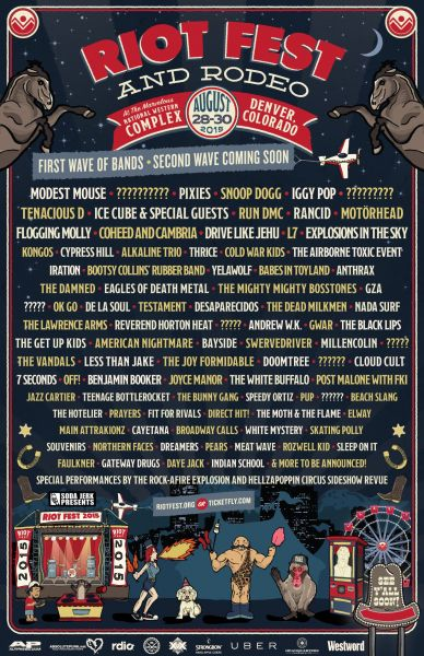 Riot Fest's first wave of artists were announced today.