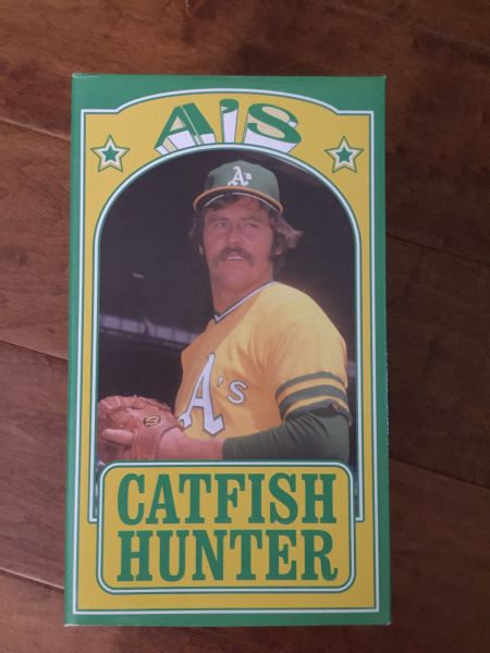 Every true A's fan must have this Catfish Hunter bobblehead, given out at a game in 2014 to honor the Hall of Fame pitcher.
