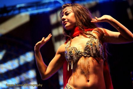 Best sexy award goes to the belly dancing performance by Nathalie Tedrick during the Thievery Corporation set. Nathalie's grace, beauty,