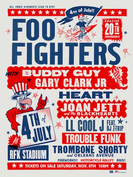 Foo Fighters 20th Anniversary Blowout coming to RFK Stadium on July 4, 2015.
