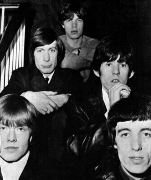The Rolling Stones band in 1965, one year before their appearance at Indianapolis' State Fair Coliseum. Fresh cheeked and an enigma!