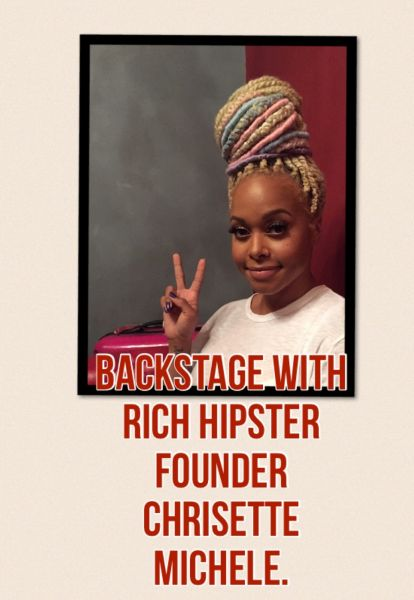 Chrisette Michele's dynamic personality shines through backstage.