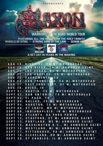 Armored Saint announce additional tour dates with Saxon