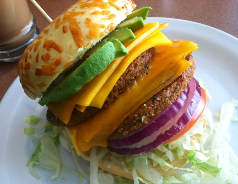 You can enjoy some of the greatest food in Pittsburgh especially a veggie burger.
