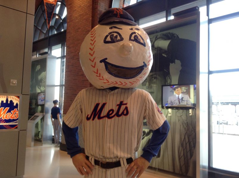 Mr. Met is the official mascot of the New York Mets