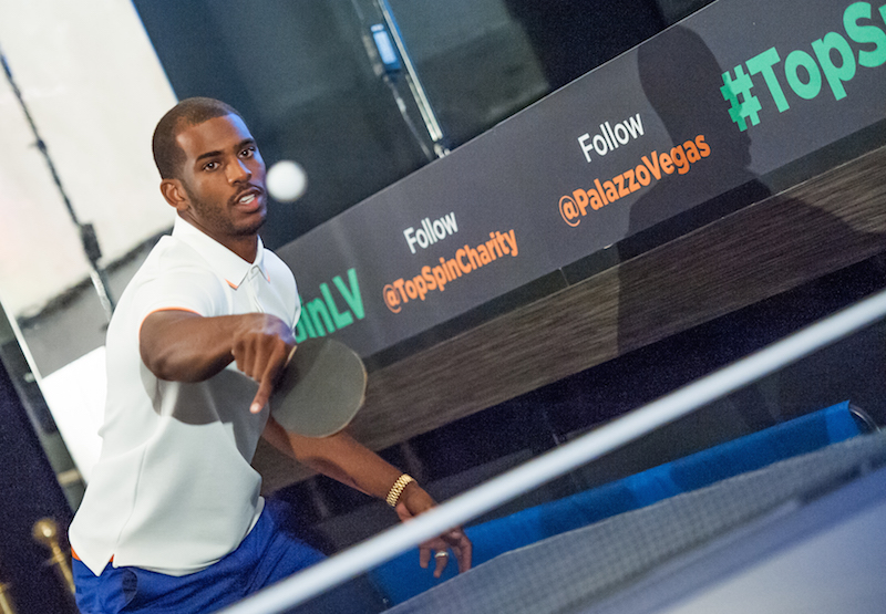 Chris Paul at the TopSpin Ping Pong Tournament in Las Vegas in 2014.