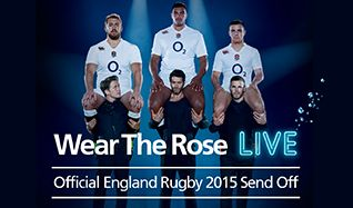 Wear the Rose Live, Official England Rugby 2015 Send Off Tickets tickets at The O2 in London