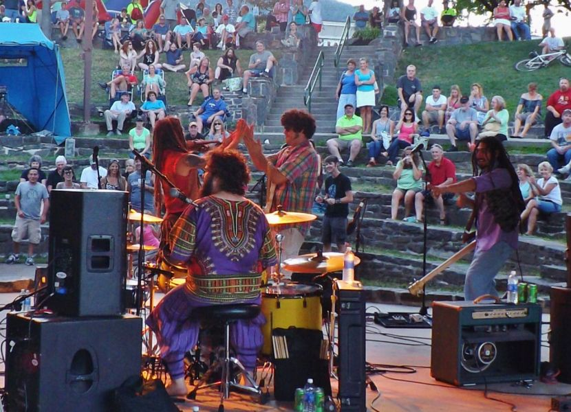 Vermont-based Gang of Thieves performed in Shepard Park, Lake George, N.Y. at the Fridays at the Lake Brews and Band concert series July 31,