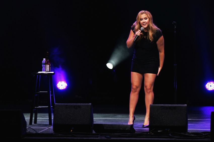 Amy Schumer performing at the Oddball Comedy Festival in Chicago, IL on Aug. 29, 2015.