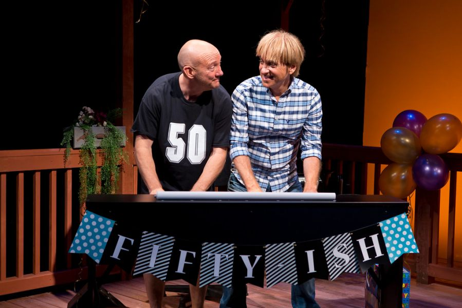"Mark Vogel stars alongside Lynn Shore in the play ""Happy 50ish!"""