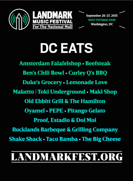 The culinary lineup for the Landmark Music Festival was curated by Chef José Andrés.