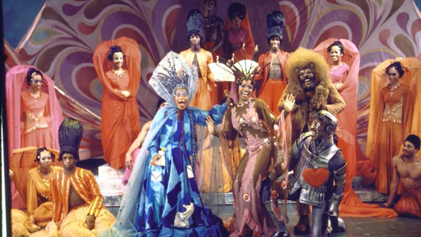 "A 1975 performance of ""The Wiz."""