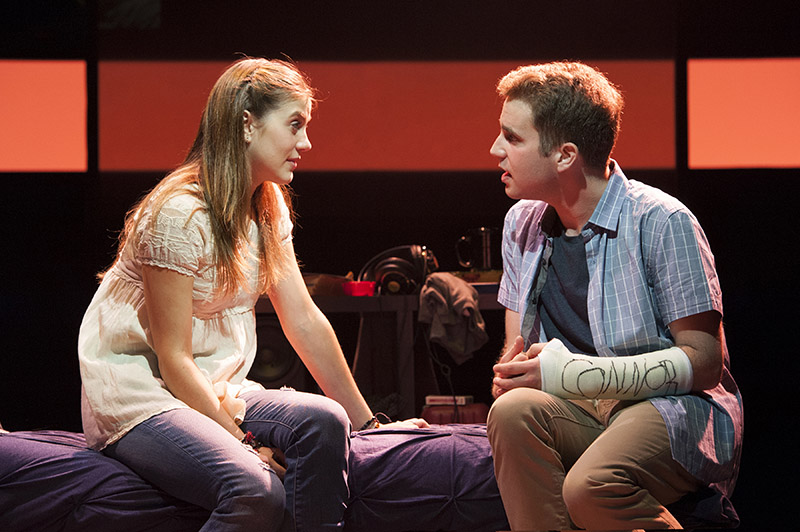 (L to R) Laura Dreyfuss as Zoe and Ben Platt as Evan in the world-premiere musical Dear Evan Hansen at Arena Stage at the Mead Center for Am