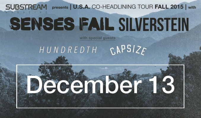 Silverstein + Senses Fail tickets at Starland Ballroom in Sayreville