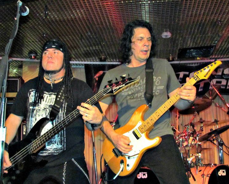 Riot V bassist and San Antonio native Don Van Stavern (left) and guitarist Mike Flyntz will finally return to the Alamo City on Sept. 26.