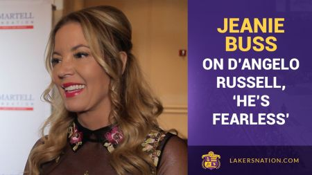 Lakers president Jeanie Buss has high hopes for 'fearless' D'Angelo Russell