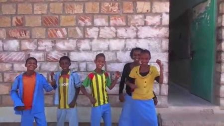 Watch this heartwarming video of Ethiopian kids learning English from Pearl Jam