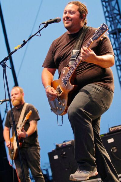 Micah Pueschel of Iration plays at Riot Fest in Denver Aug. 29.