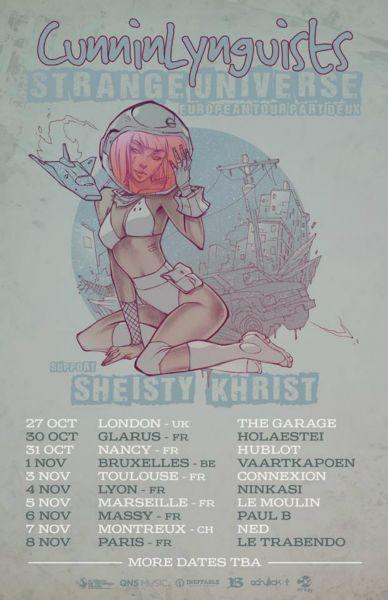 CunninLynguists announce EU tour on heels of Deacon the Villain release.