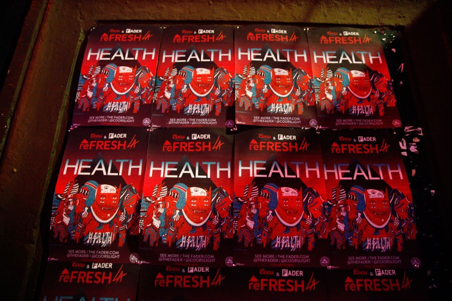 HEALTH performing at the reFRESHLA event is just what the doctor ordered