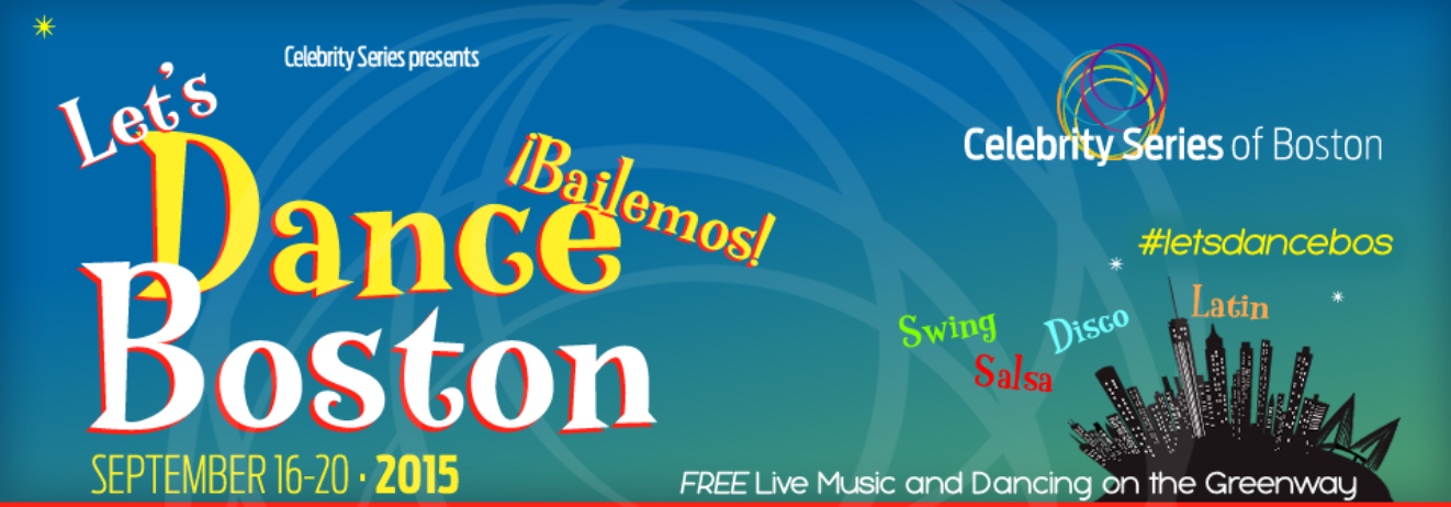 """Let's Dance Boston"" takes place from Wednesday, September 16 through Sunday, September 20!"