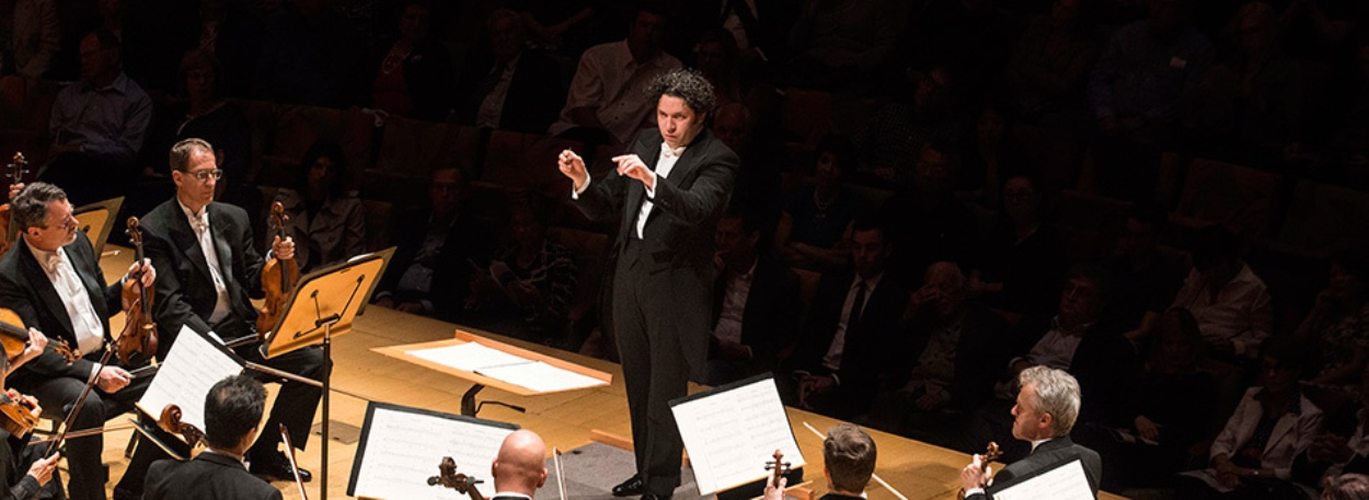 Gustavo Dudamel conducts the LA Philharmonic orchestra