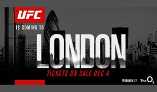 UFC Fight Night London tickets at The O2 in London