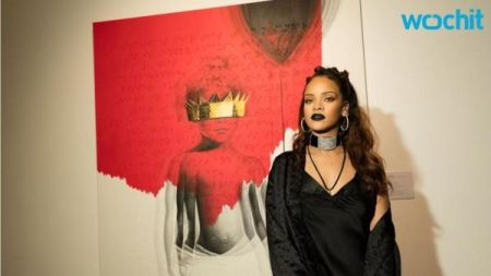 Rihanna reveals new album title and cover at L.A. art event