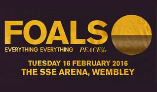 Foals tickets at The SSE Arena, Wembley in London